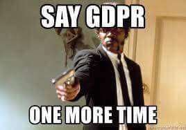 Dare we mention GDPR?