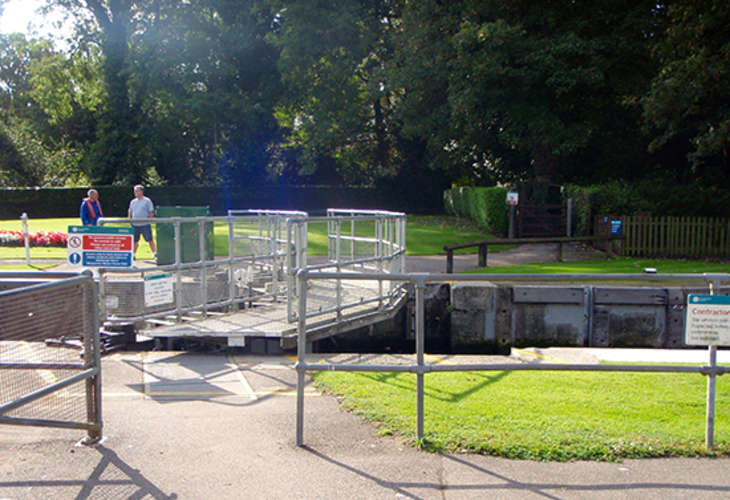 Over the lock gate